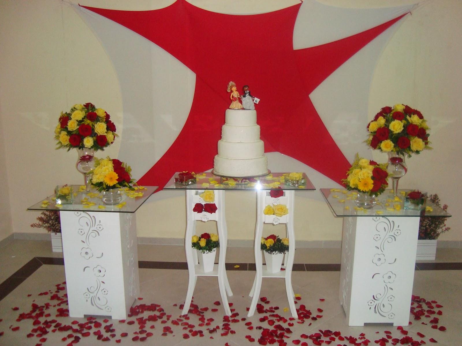 Decorao De Festa De Casamento Vermelho E Amarelo  Car Interior Design
