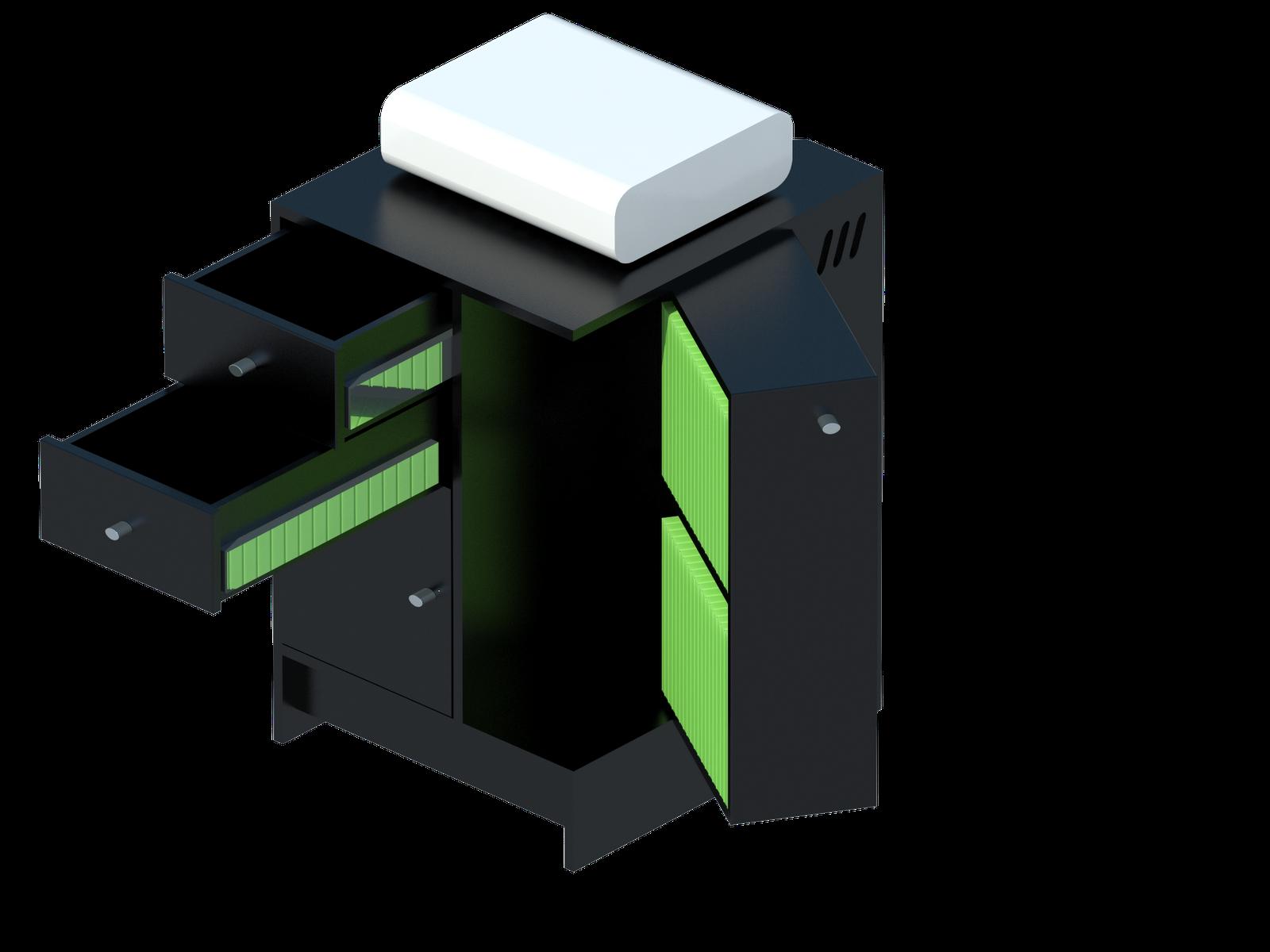 C o r e design concept for Mueble para xbox 360