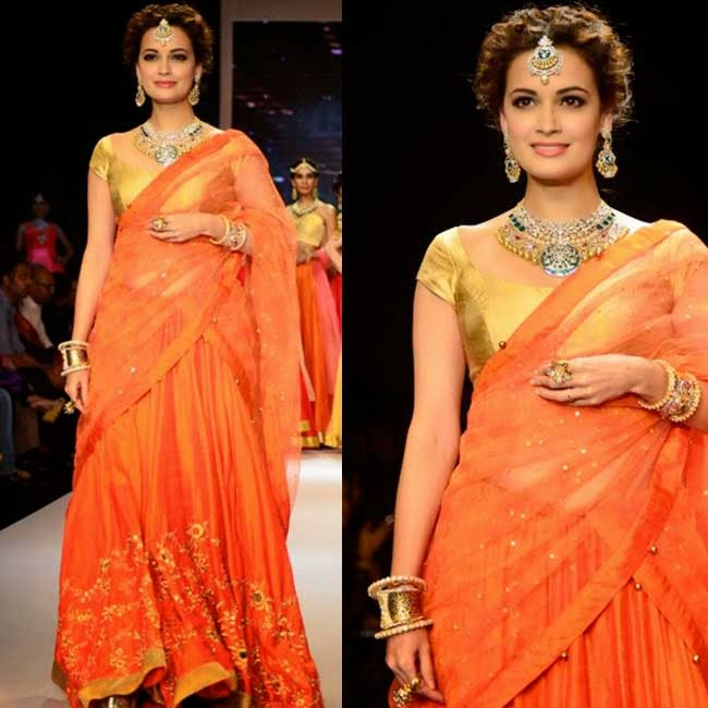 Dia Mirza at India International Jewellery Week (IIJW)-2014