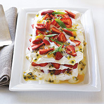Pavlova con Yogur y Fruta