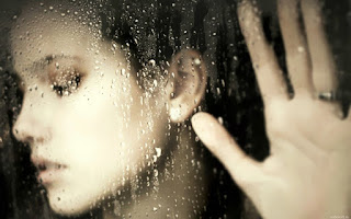 Face Palm Against Window Rain Drops Girl HD Wallpaper