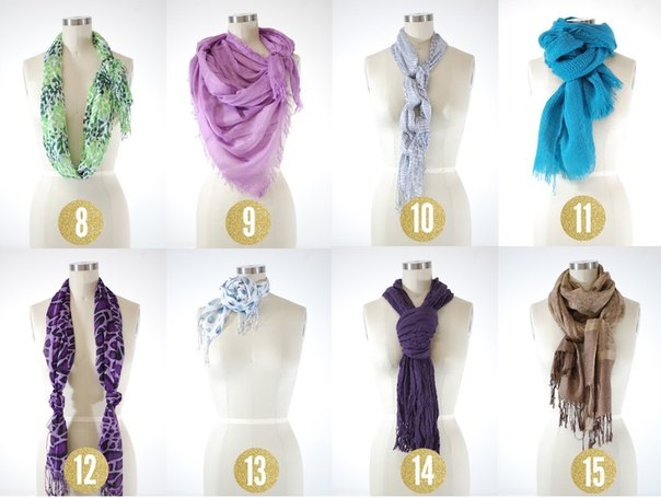 handmadera 15 ways to tie scarves. Black Bedroom Furniture Sets. Home Design Ideas