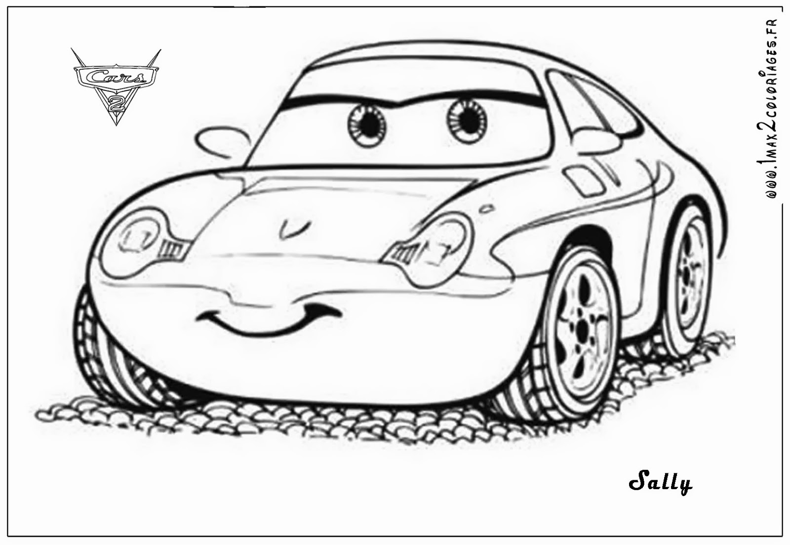 Lightning Mcqueen And Sally Coloring Pages