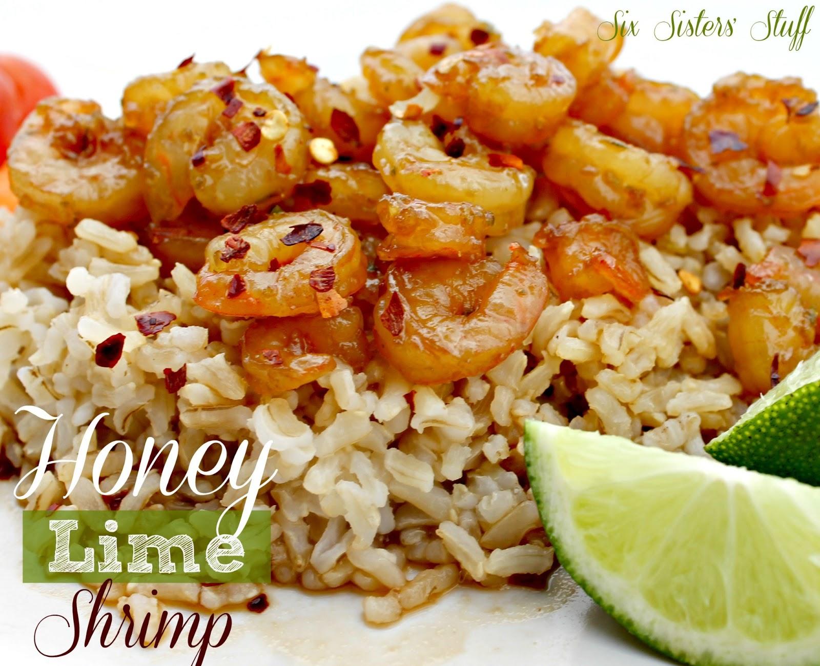 Healthy Honey Lime Shrimp Six Sisters S <li><img src=