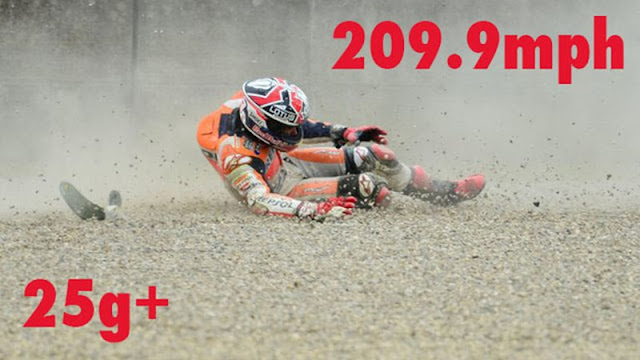 Marc Márquez cae a 337,9 km/h