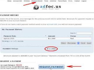 cara meminta pembayaran di adfoc.us