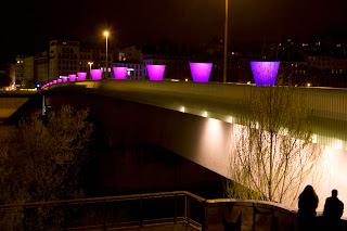 Les lumignons sur le pont Morand