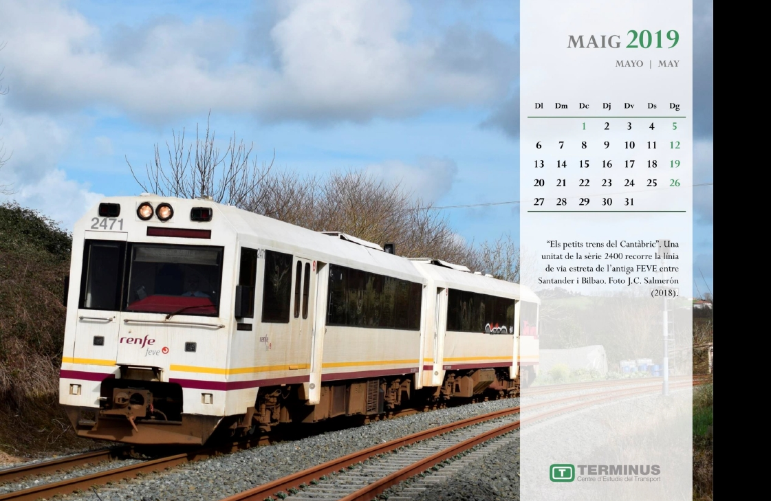 Calendari - Maig del 2019