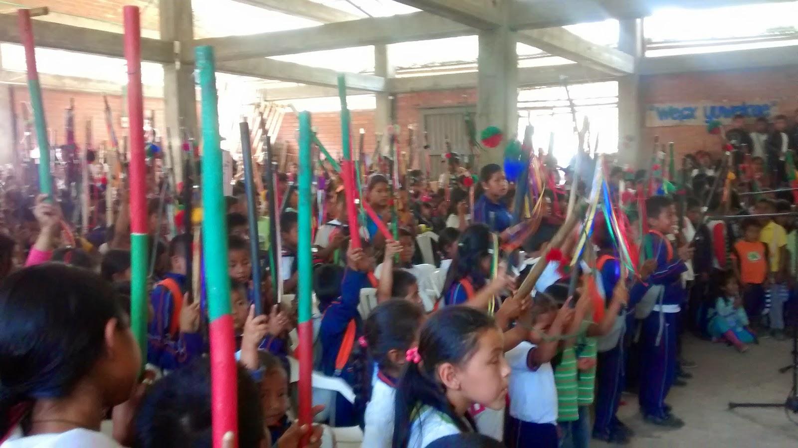 Cauca: La poseción de la autoridad tradicional escolar, es un espacio para seguir fortaleciendo los semillaros de la resistencia y lucha del pueblo Nasa desde la escuela
