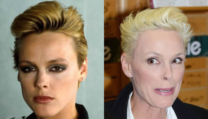Brigitte Nielsen ontem e hoje