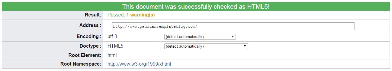 Validasi Kode HTML5 & CSS Blog