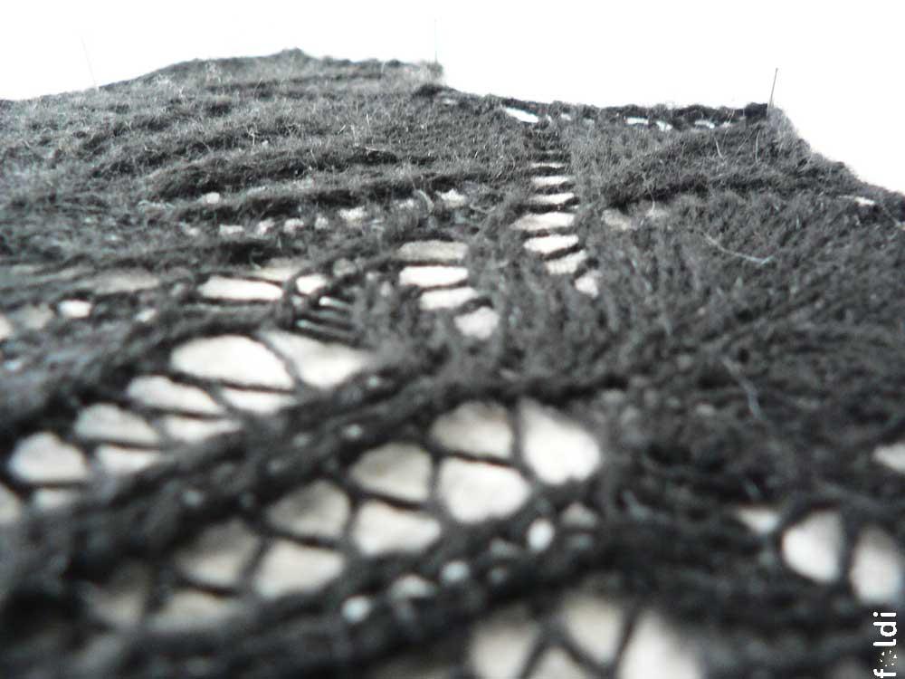 Foldi Frost Flower Lace Shawl Free Machine Knitting Pattern
