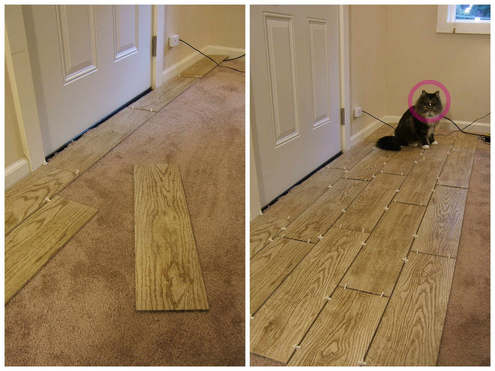 Foyer Tile Or Wood : That s rubin my little helper for this project he is not