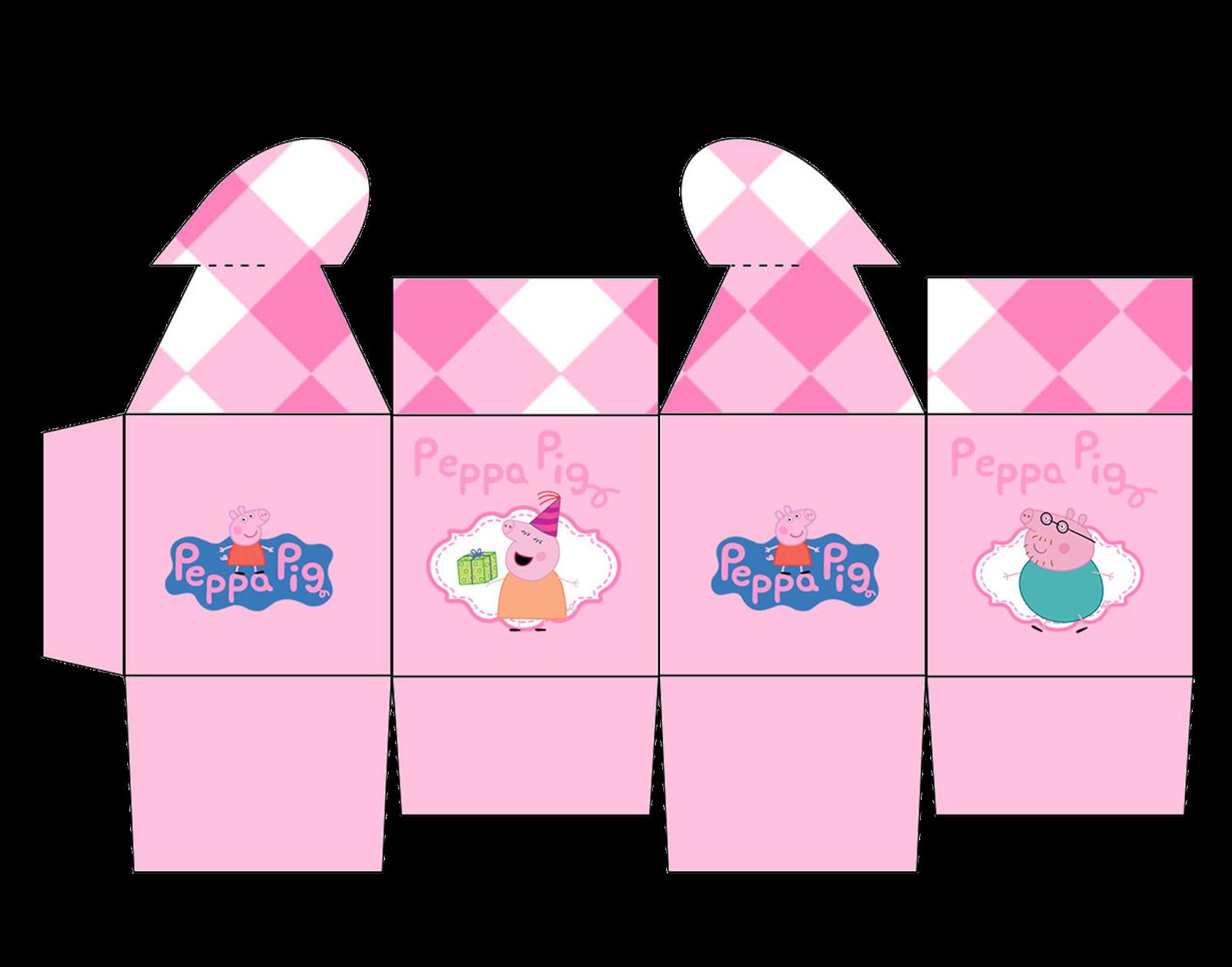 1600 x 1256 png 482kB, Peppa Pig Free Printable Box with Heart Closure ...
