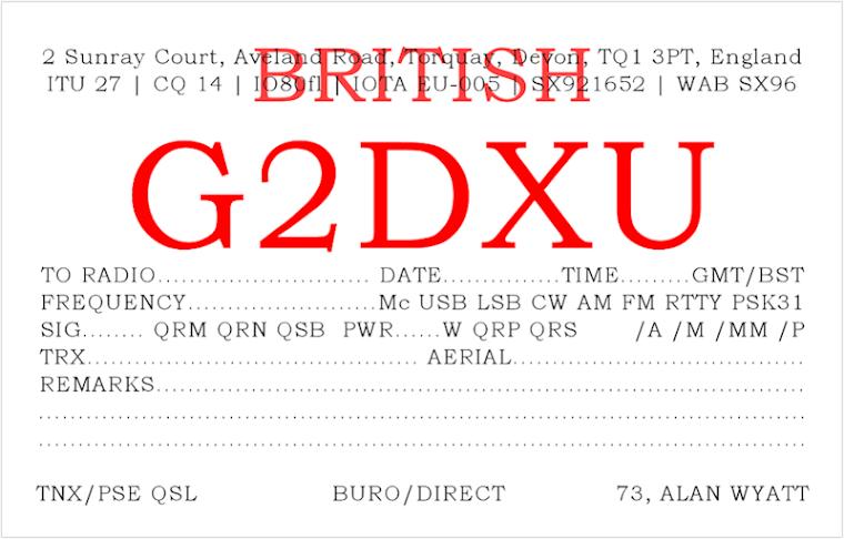 G2DXU QSL card