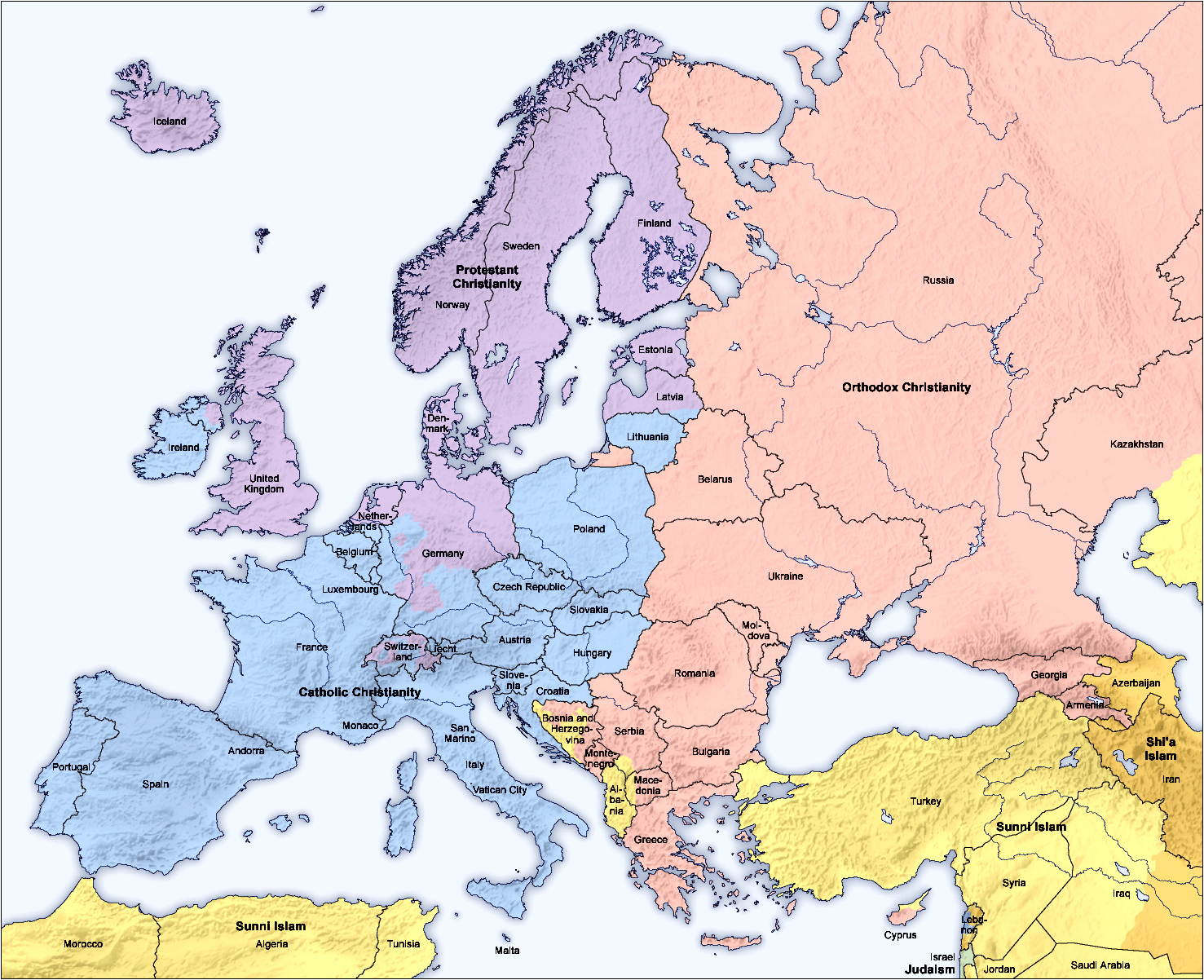Eastern Europe And Russia Map