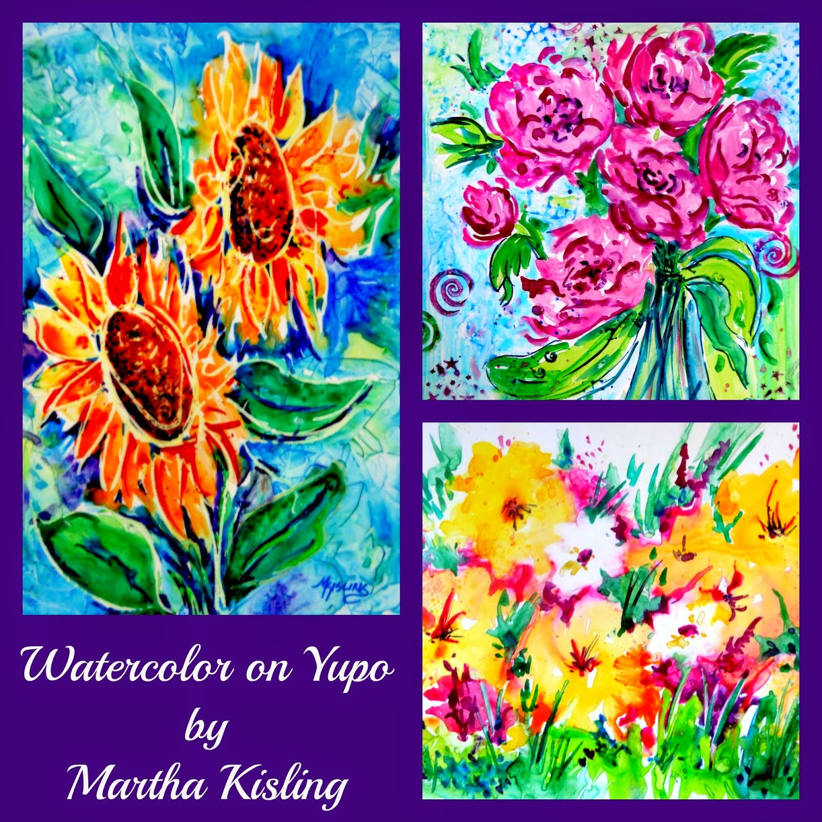 Watercolor Flowers on Yupo Workshop Aug 23, 2014 Breckenridge, CO