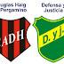 Douglas Haig Vs Defensa y Justicia : Formaciones horario y data previa