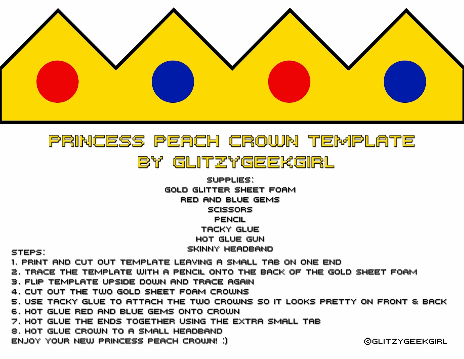 Omglitzy Tutorial Princess Peach Crown