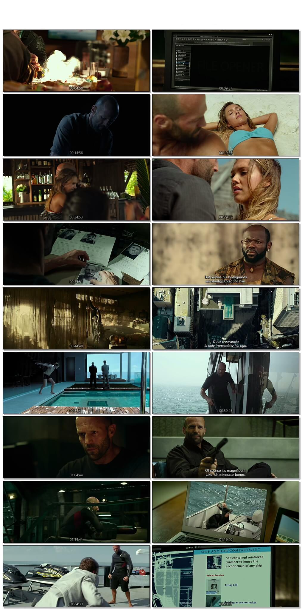 Screen Shot Of Mechanic: Resurrection 2016 300MB Full Movie Hindi Dubbed Free Download 480P BRRip Small Size PC Movie