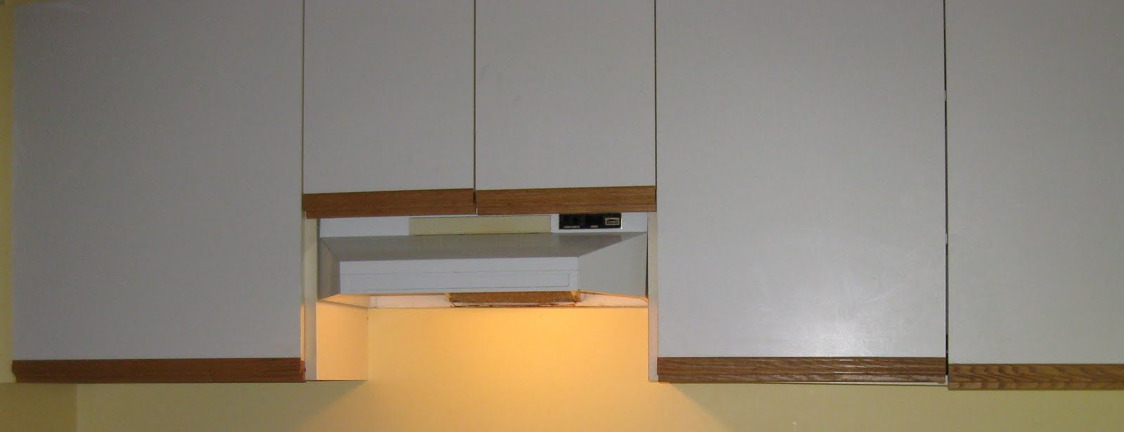 Trim For Cabinets White Melamine Kitchen Cabinets With The Oak Trim 12424920170430