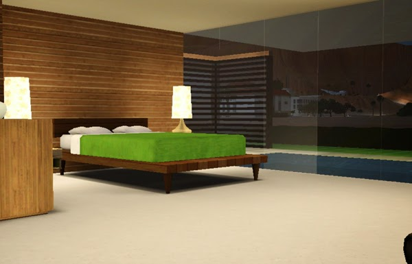 [LIVING DESIGN] WOODEN BOX HOUSE THE SIMS 3 bedroom2