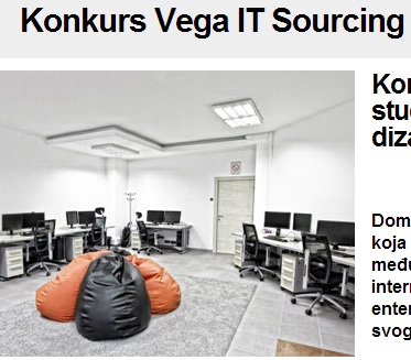 Konkurs za dizajn enterijera - Vega IT Sourcing