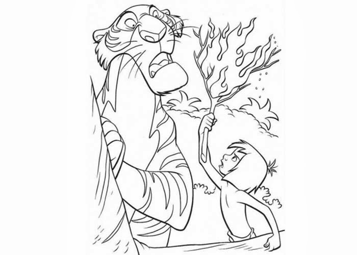 shere khan and mowgli coloring pages