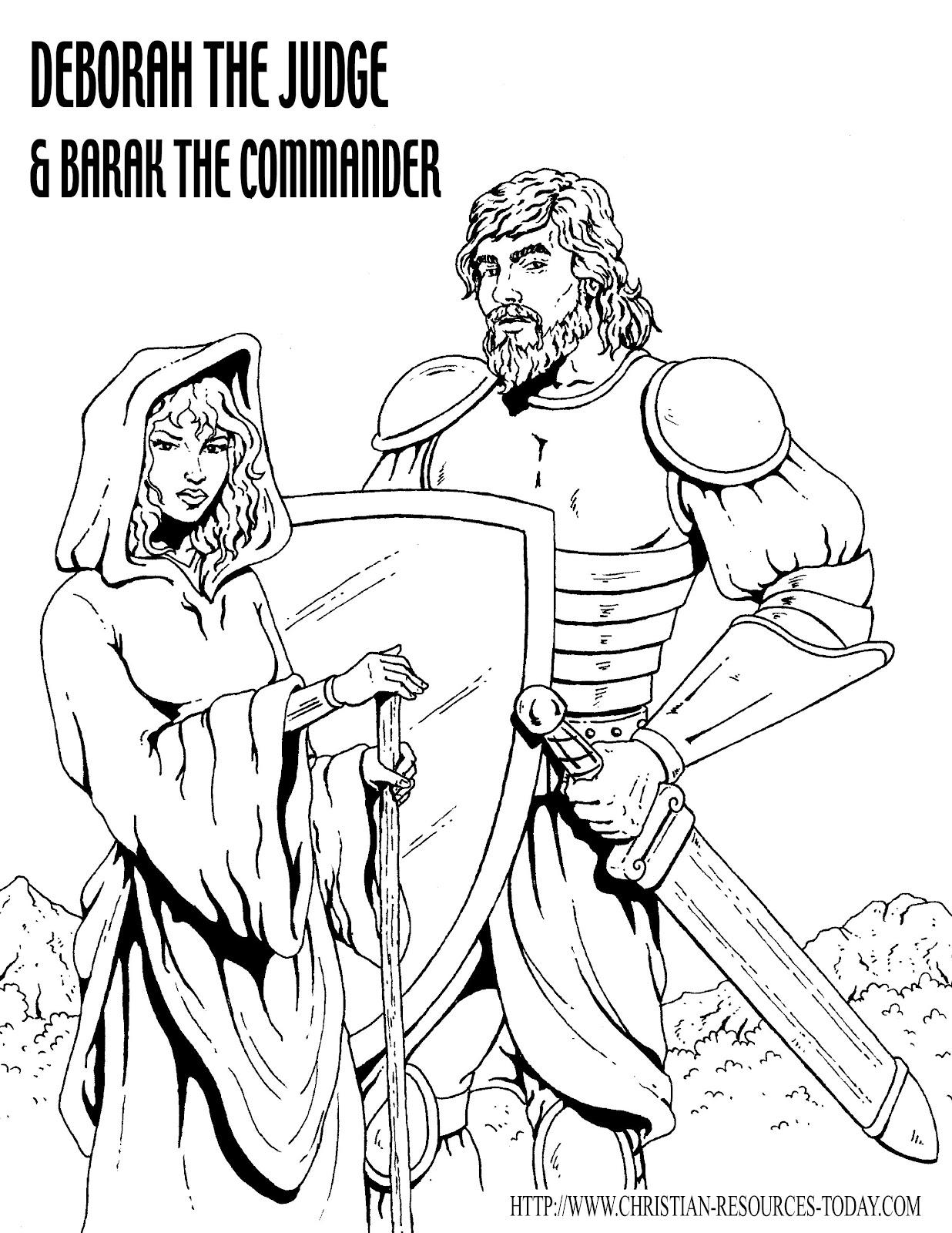 deborah bible coloring pages - photo#15