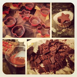 Dark Chocolate and Coconut Bonbons