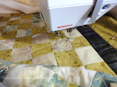 finally quilting up Kevin and Colby's wedding quilt