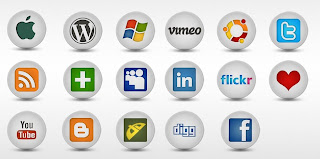beautiful social bookmark icons