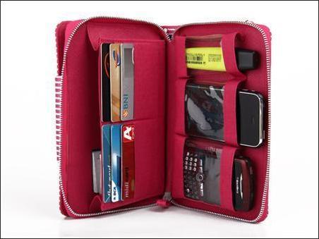 jual dompet wanita korea murah merah garis tempat hp
