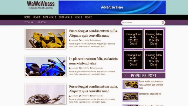 Johny Wusss Responsive Blogger Template