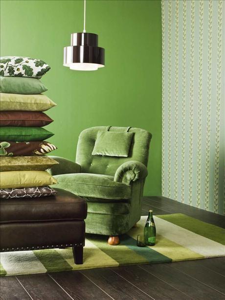 Sala De Estar En Color Verde ~ Decoración+de+Salas+de+color+Verde+6jpg