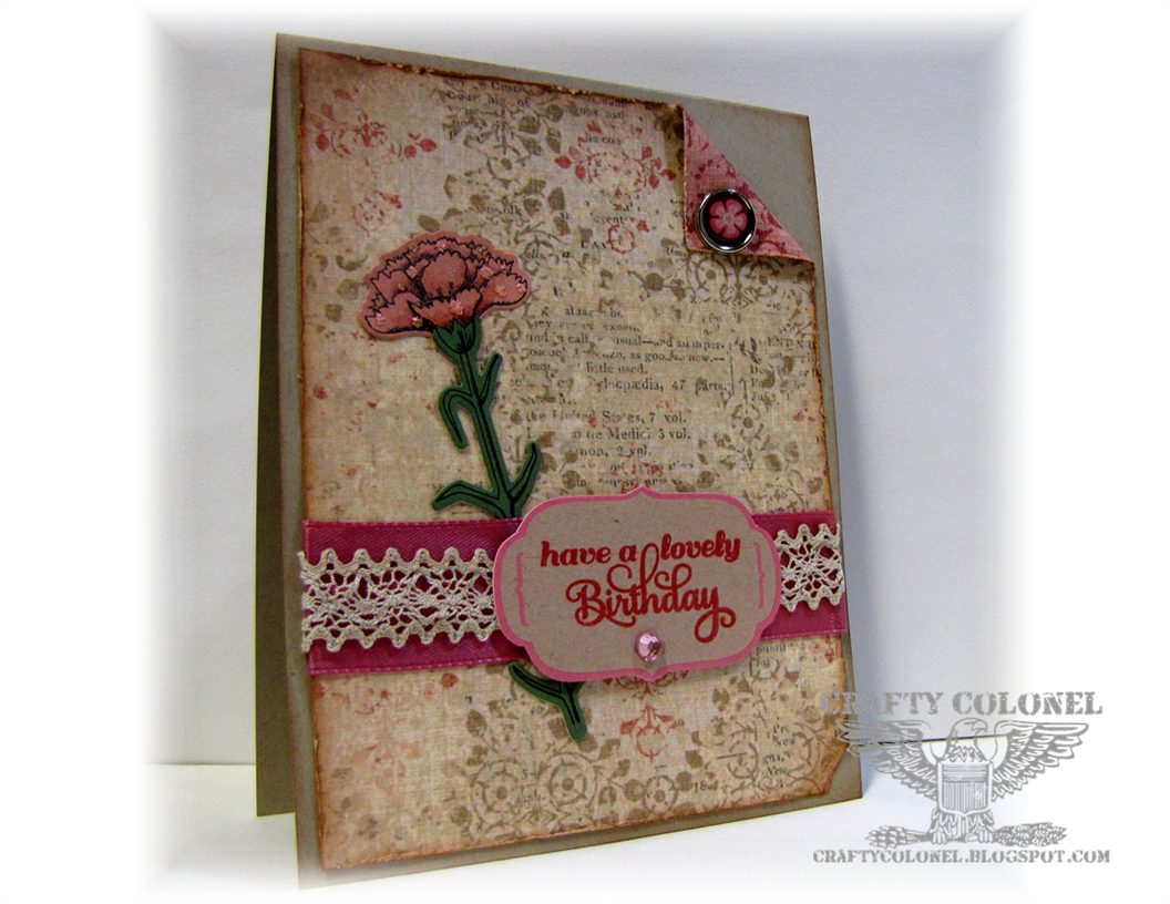 Memory Box exclusive Stamp & Die, Inspired by Stamping Sentiment, Card by Crafty Colonel (Donna Nuce), Birthday card