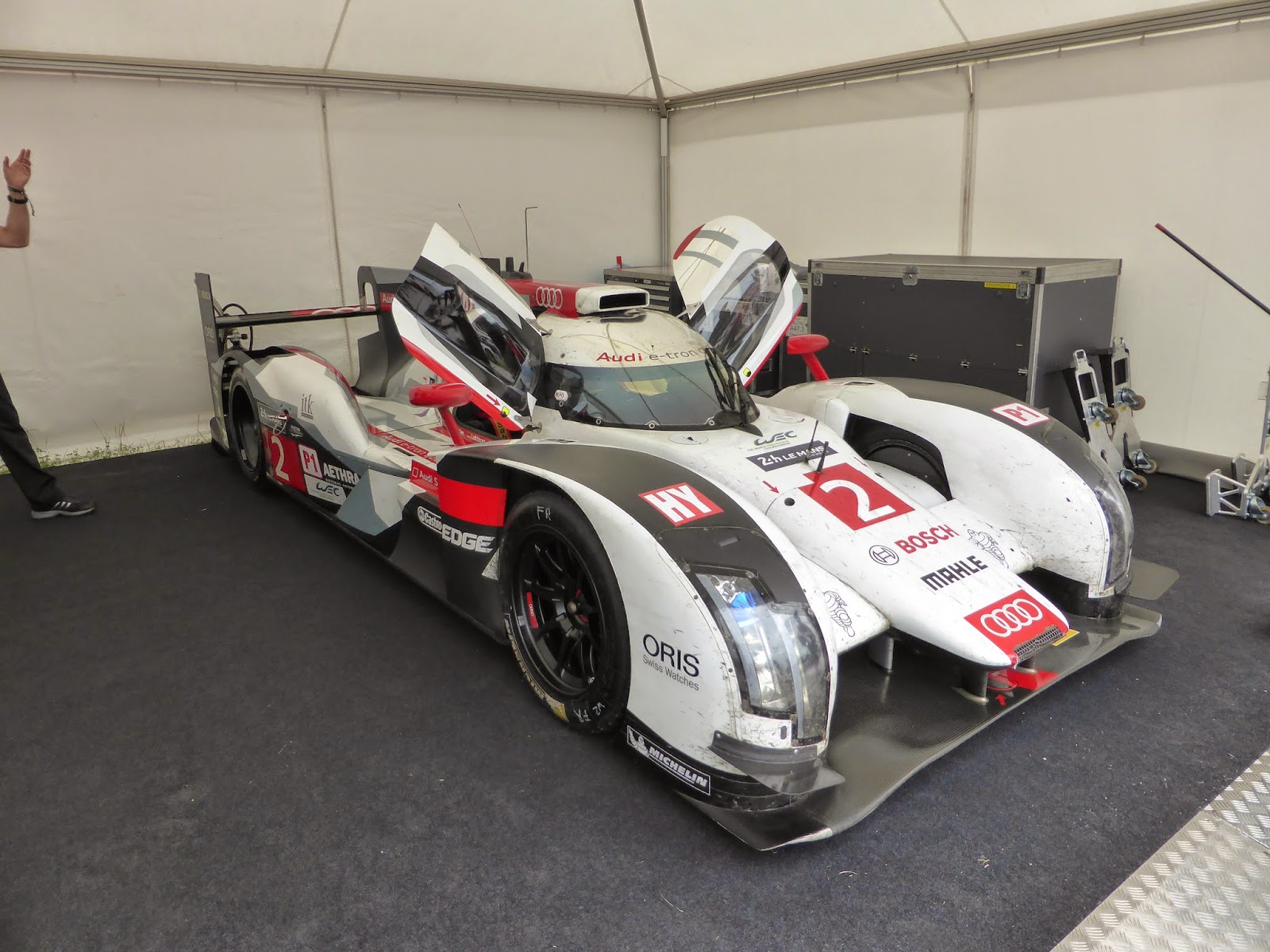 Audi R18 e-tron quattro.  This thing won the 2014 24 Hours of Le Mans