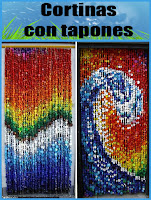 Tutorial: Cortinas con tapones de botellas