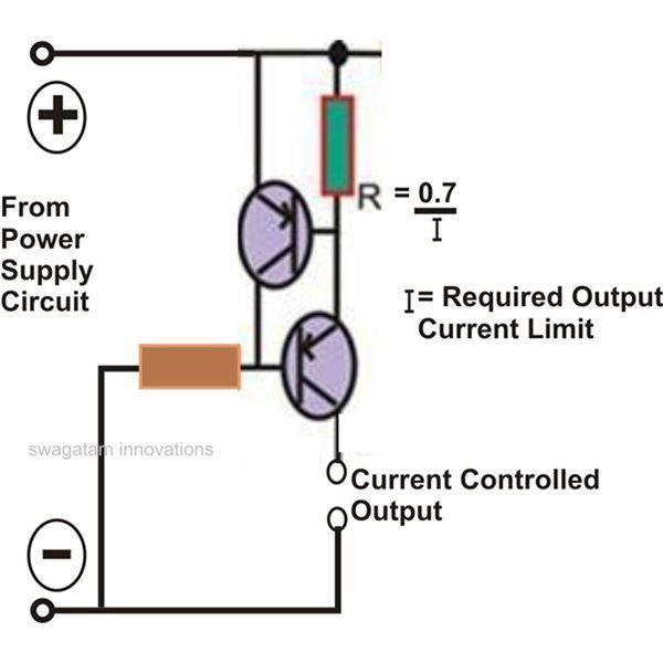 Super Circuit Diagram Current Limiter Circuit Using two Transistors