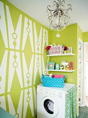decorar un área de lavado