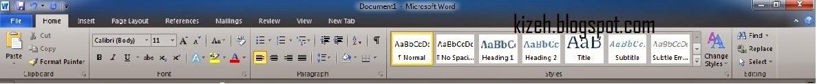 penjelasan microsoft word 2010