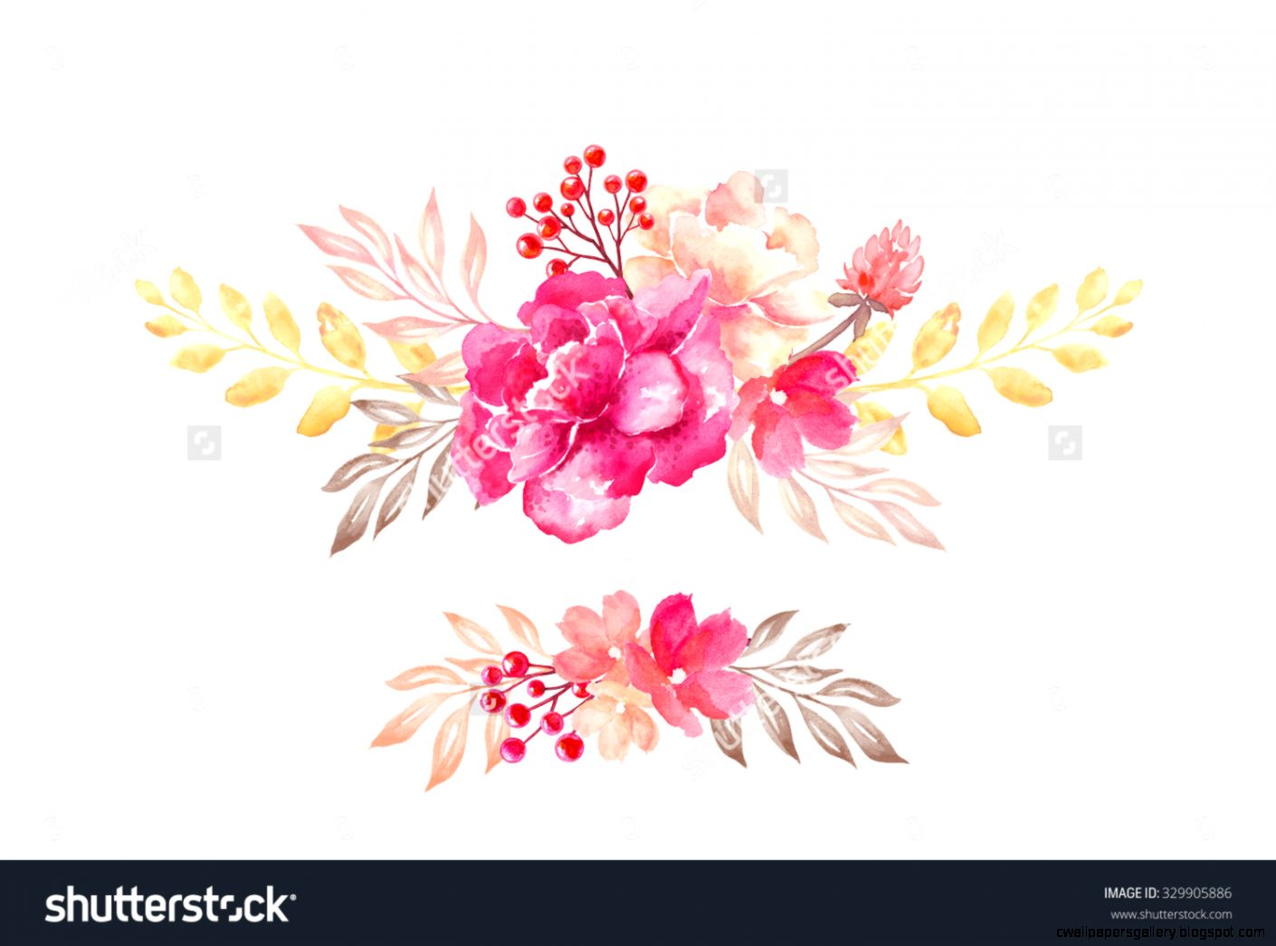 Fl Arrangement Flowers Bouquet Design Elements Watercolor