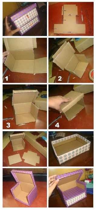 Делаем маленькие коробочки своими руками