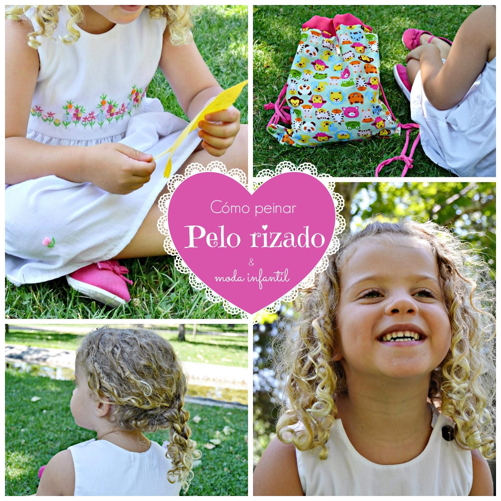 cómo peinar pelo rizado en niñas moda infantil blog niños mama de noa