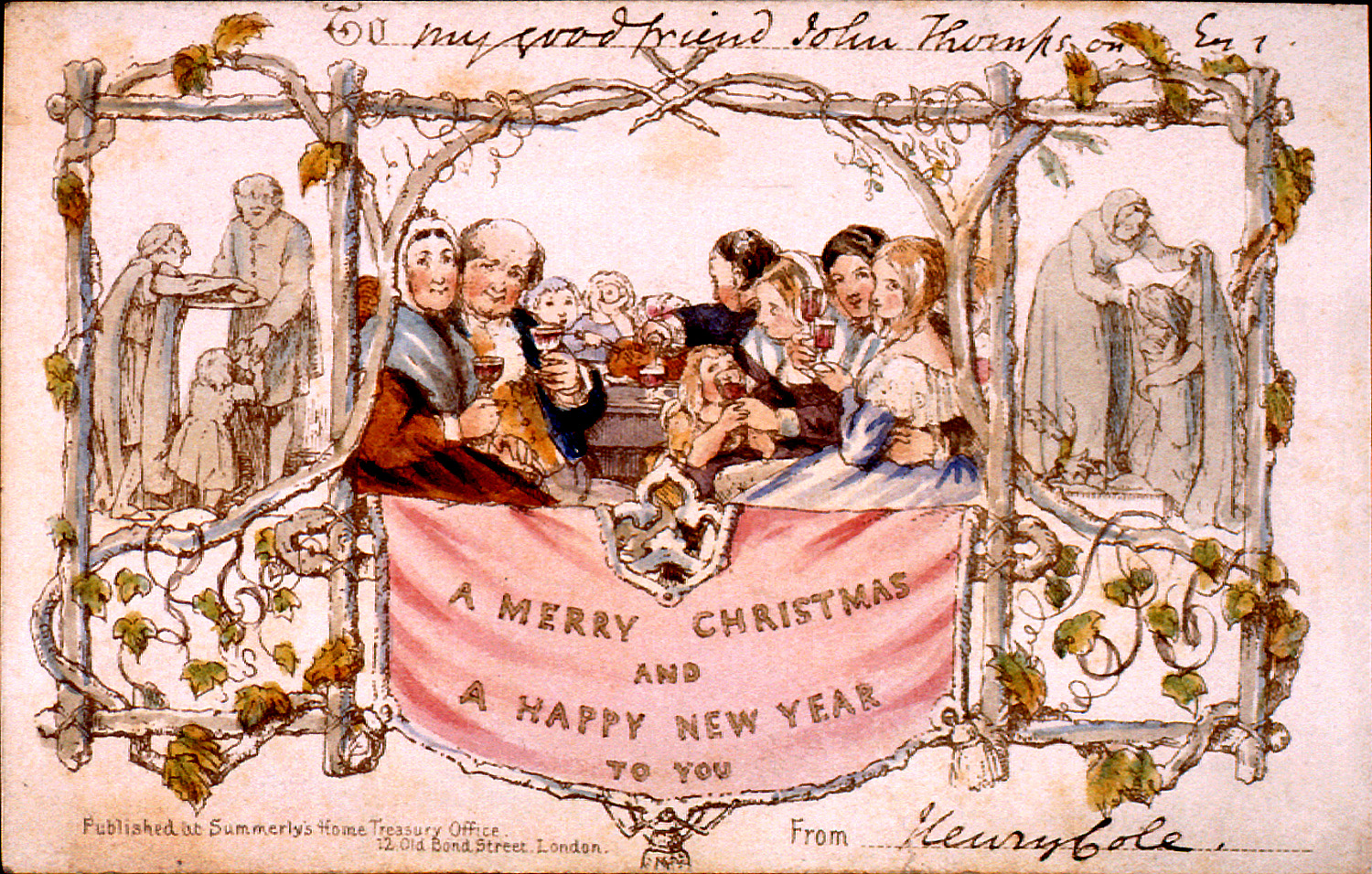 the merry dressmaker december 2011 ForWho Commissioned The First Christmas Card In 1843