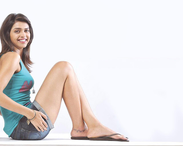 Bollywood actress and model Deepika Padukone's tattoo on ...