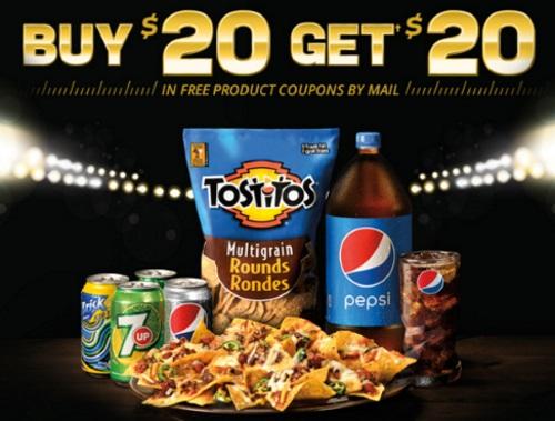 Pepsico Buy $20 Get $20 Superbowl Rebate