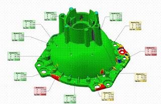 Comparación de una pieza escaneada respecto al CAD con Rapidfor XOV