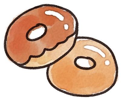 ドーナッツのイラスト(お菓子)