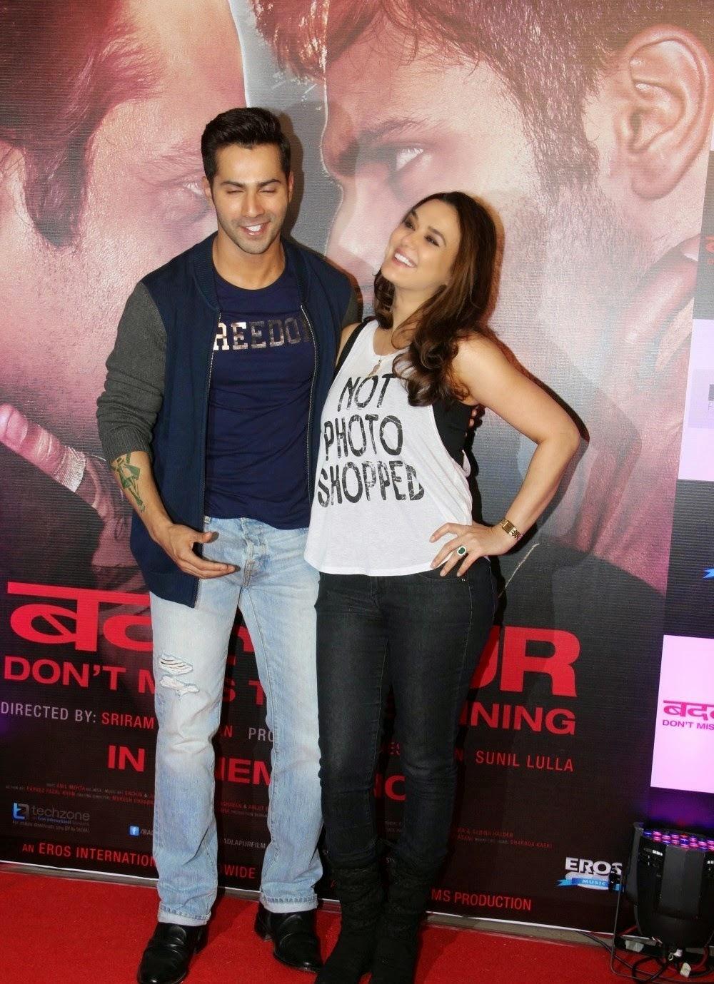 Preity zinta at badlapur film success party